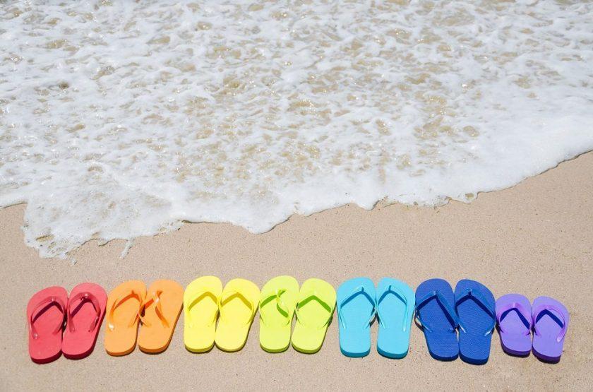 flip flops and water image slide